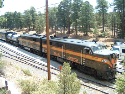 Der Grand-Canyon-Zug am Grand Canyon Depot