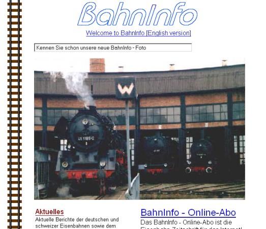 BahnInfo im Jahre 1998