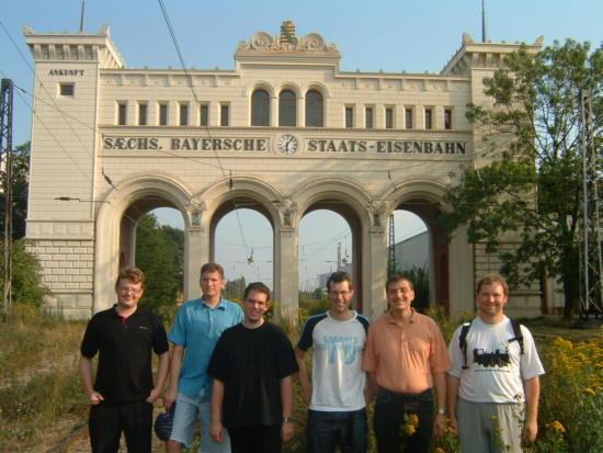 Erstes BahnInfo-Gesamtteam-Treffen am 2. August 2002 in Leipzig