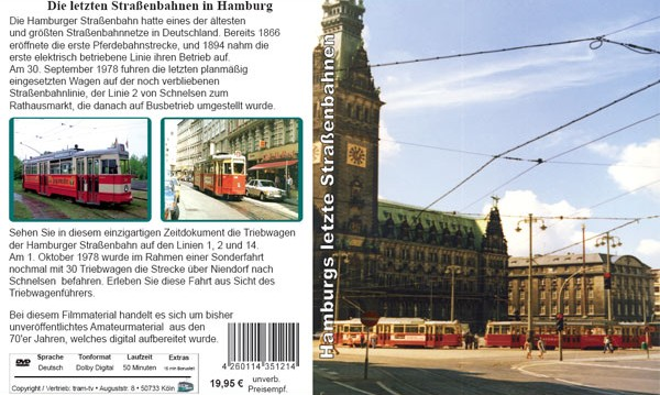 Cover: DVD Hamburgs letzte Strassenbahn
