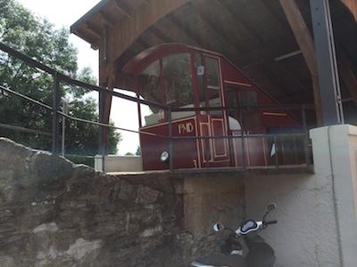 Monte-Bre-Standseilbahn (oberer Teil)