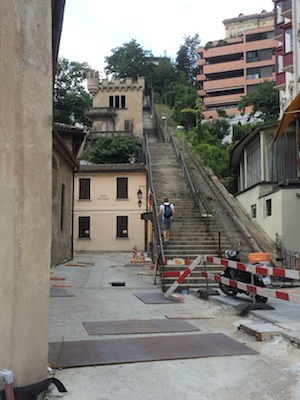Stillgelegte Lugano-Standseilbahn