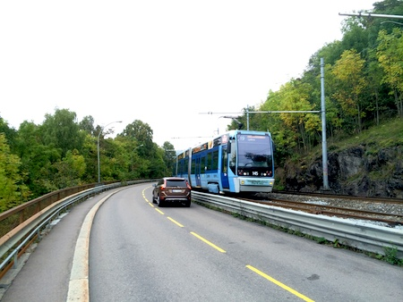 Stra�enbahn in Oslo
